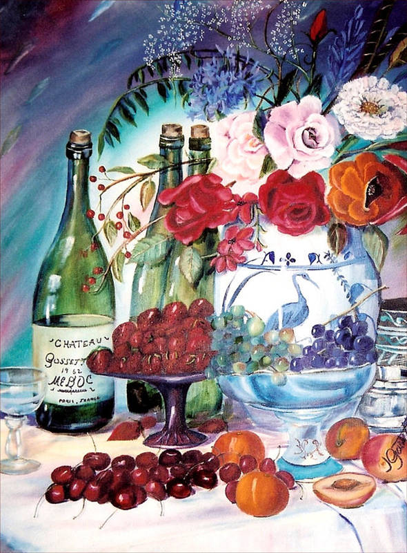 Still Life Art Print featuring the painting Give Thanks by Joan Gossett