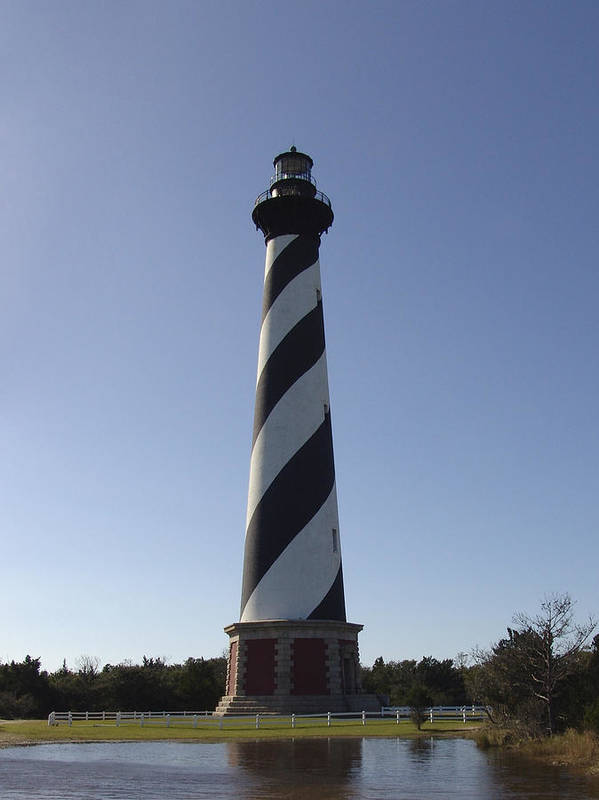 Hatteras Art Print featuring the photograph Hatteras Lighthouse by Tina B Hamilton
