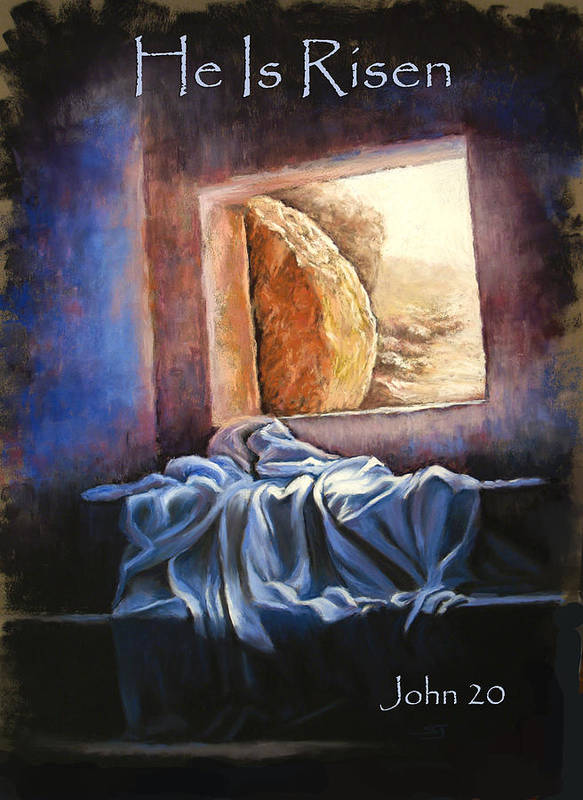 Christ Print featuring the pastel He Is Risen by Susan Jenkins