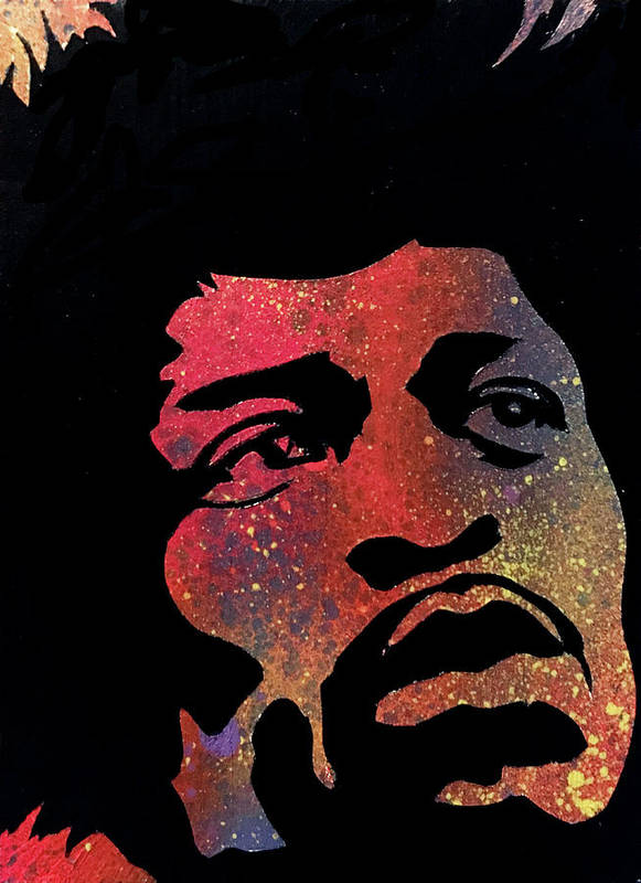 Hendrix Art Print featuring the painting Hendrix by Dennis Wells