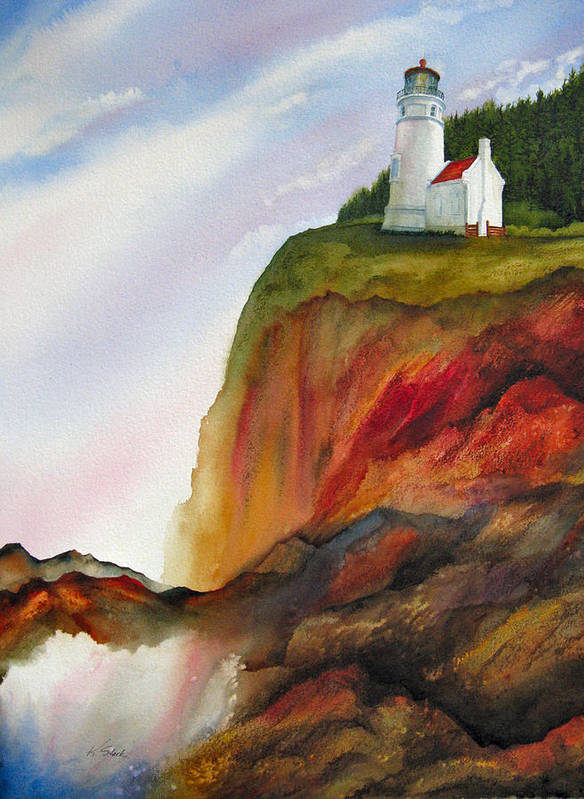 Coastal Art Print featuring the painting High Ground by Karen Stark