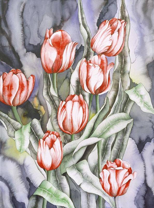 Flower Art Print featuring the painting Home Sweet Home by Liduine Bekman