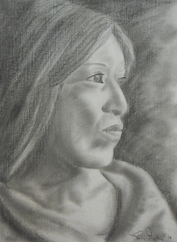 Woman Art Print featuring the drawing Hope by Roberta Shaughnessy