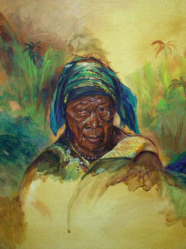 African Art Print featuring the painting Hurt But Not Hopeless by Tommy Winn
