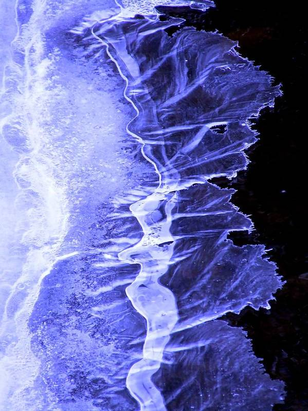 Ice Art Print featuring the photograph Blue Ice by Tiffany Vest