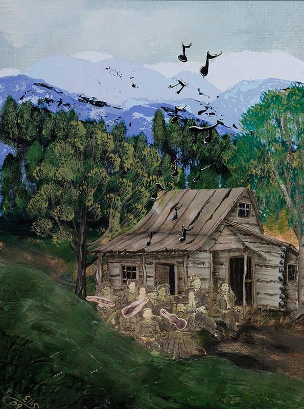 Landscape Art Print featuring the painting If We Were Musicians by Julia Ellis