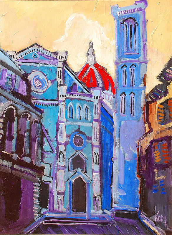 Florence Art Print featuring the painting In The Middle Of by Kurt Hausmann
