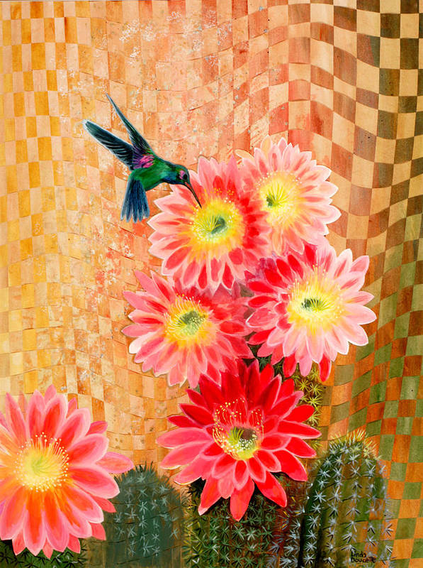 Hummingbird Art Print featuring the painting Irresistible by Linda L Doucette