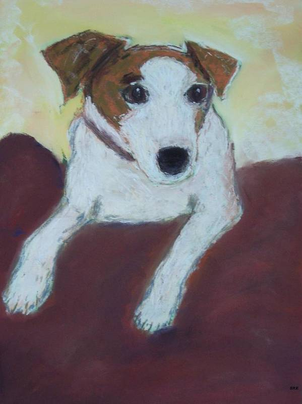 Dog Art Print featuring the painting Jack Russell by Sarah Rachel Evans