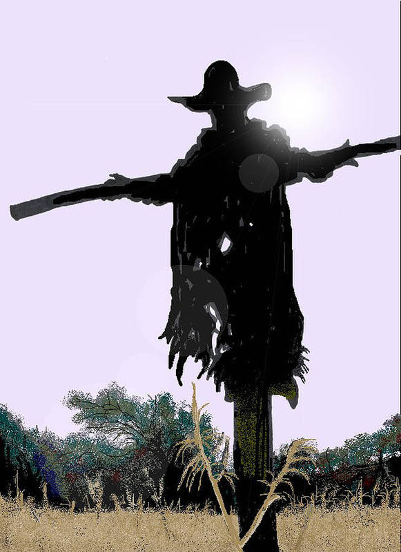 Jeepers Creepers Art Print featuring the digital art Jeepers Creepers by Kim Souza