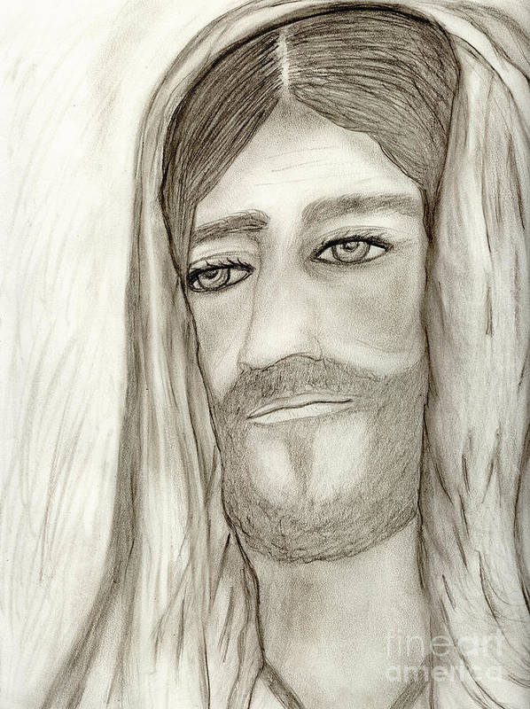 Jesus Art Print featuring the drawing Jesus by Sonya Chalmers