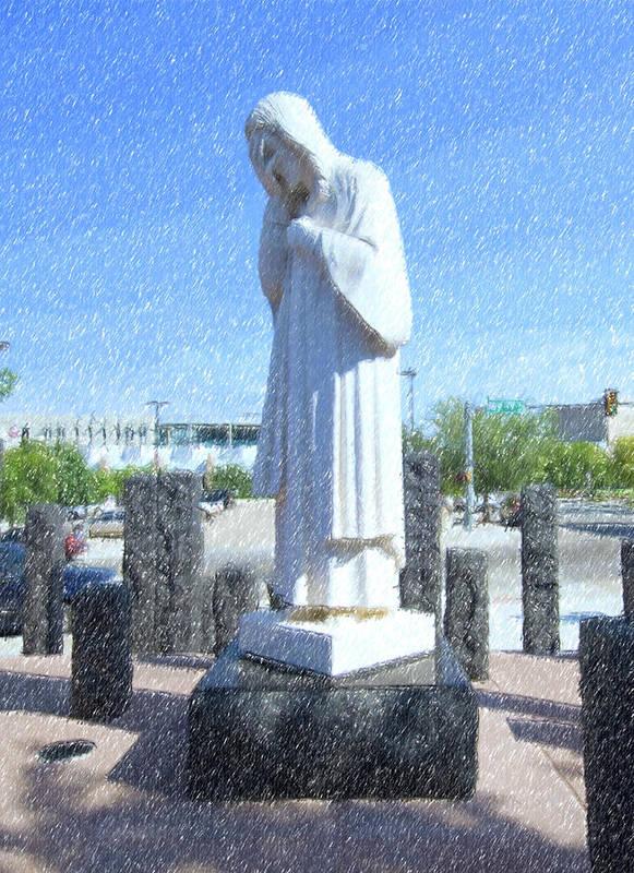 Jesus Art Print featuring the photograph Jesus Wept 3 by Betty LaRue