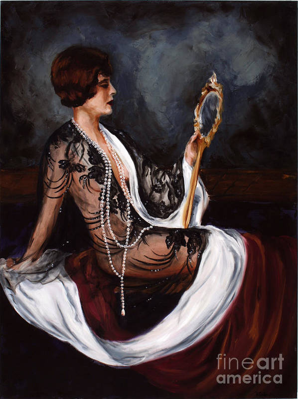 Woman Art Print featuring the painting Jezabel by Robin DeLisle