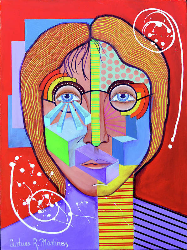 John Lennon Art Print featuring the drawing John Lennon by Arturo Martinez
