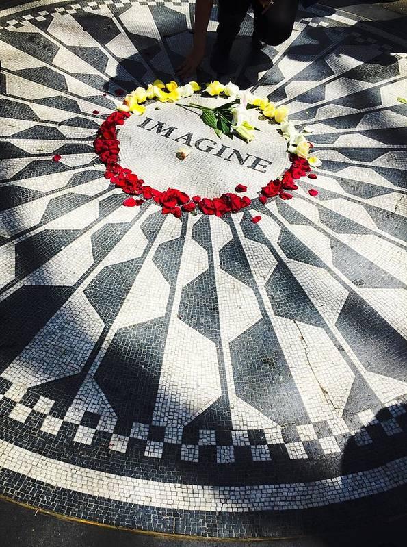 Imagine Art Print featuring the photograph John Lennon- Imagine by Brittany Cuccolino