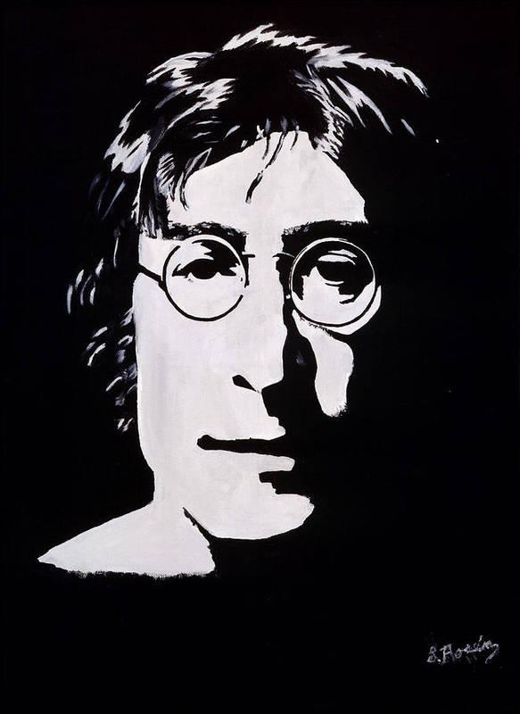 John Lennon Paintings Art Print featuring the painting John Lennon by Leeann Stumpf