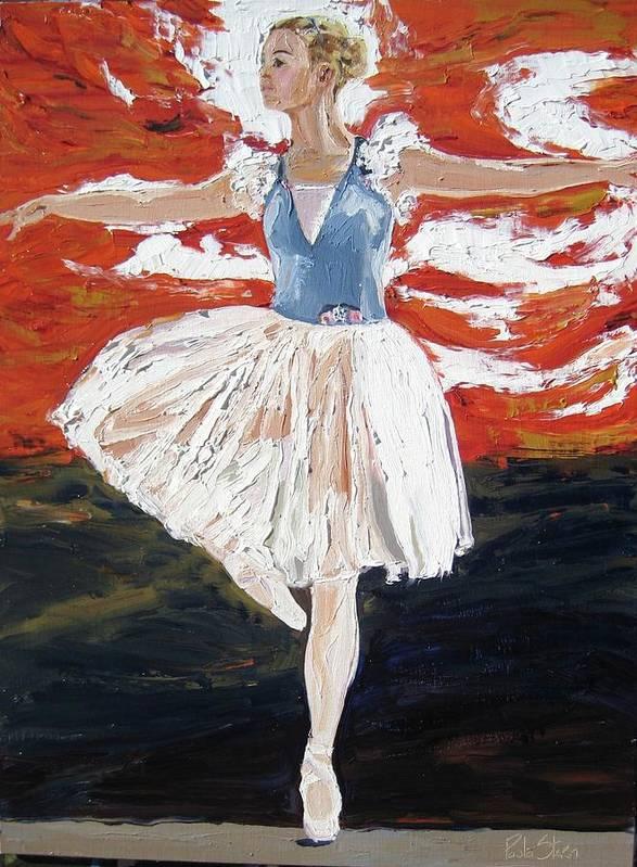 Ballerina Art Print featuring the painting Jordan On Pointe by Paula Stern