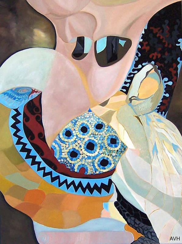 Figyrative Art Print featuring the painting Jurney by Antoaneta Melnikova- Hillman