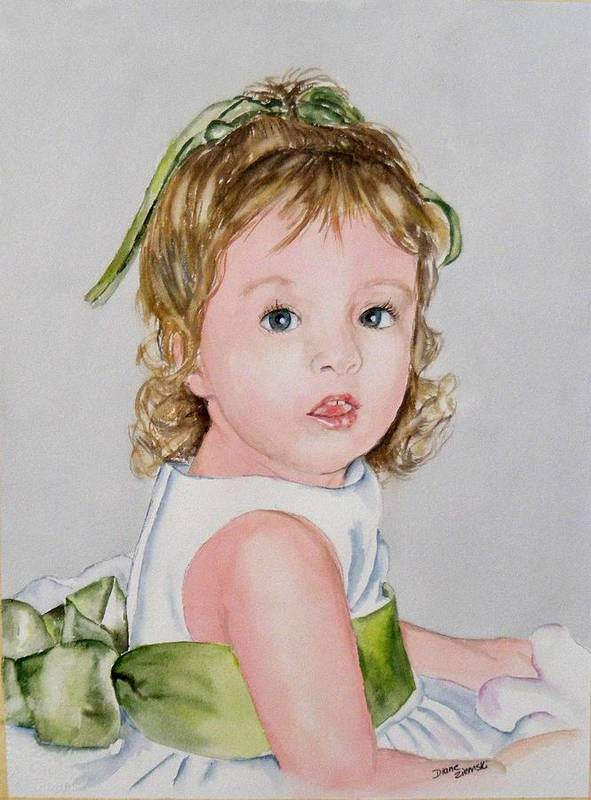 Art Print featuring the painting Kathryn - Commissioned Portrait by Diane Ziemski
