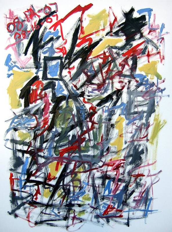 Abstract Art Print featuring the painting Large Abstract No. 5 by Michael Henderson