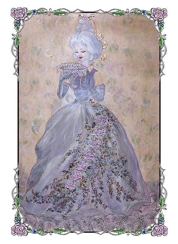 Still Life Art Print featuring the painting Lavender Lady by Phyllis Mae Richardson Fisher