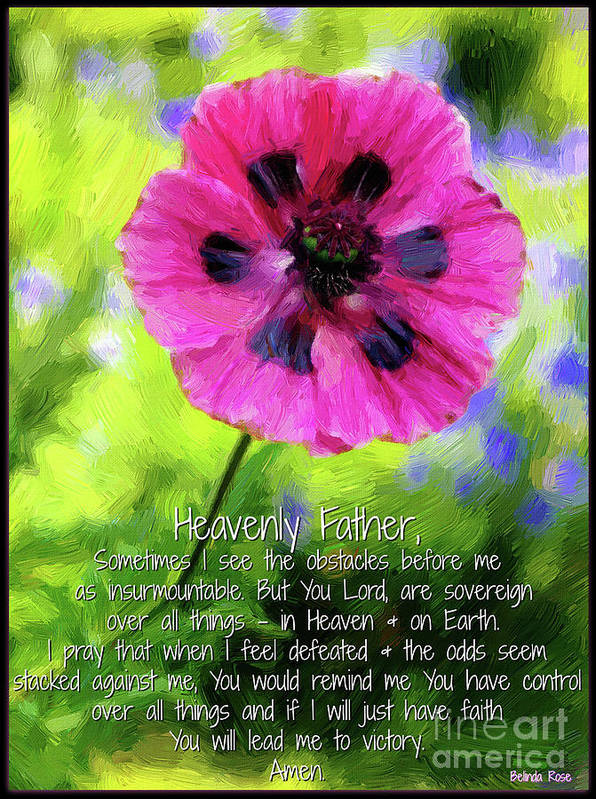 Poppy Art Print featuring the digital art Lead Me To Victory by Belinda Rose