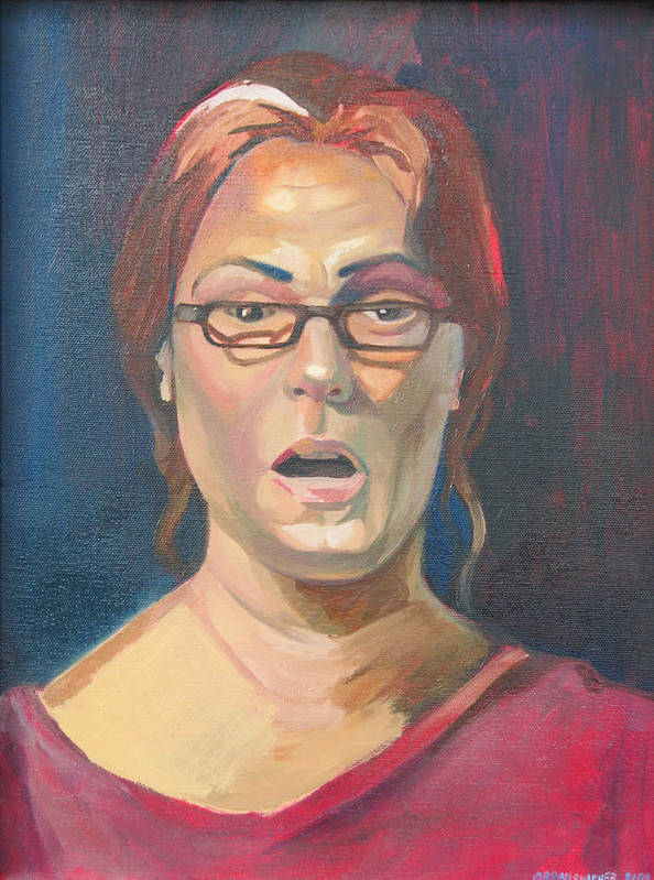 Art Print featuring the painting Life Study 2 by Julie Orsini Shakher