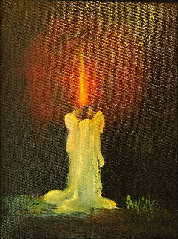 Candles Art Print featuring the painting Light The Way by Sally Seago
