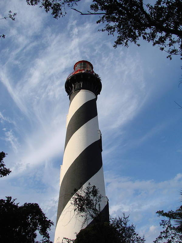 Lighthouse Art Print featuring the photograph Lighthouse In St. Augustine by Kimberly Camacho