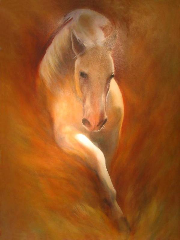 Horse Art Print featuring the painting Lipizzaner by Elizabeth Silk