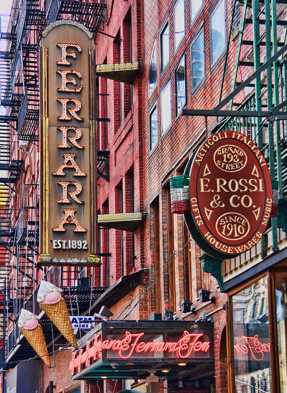 Little Italy Art Print featuring the photograph Little Italy by June Marie Sobrito