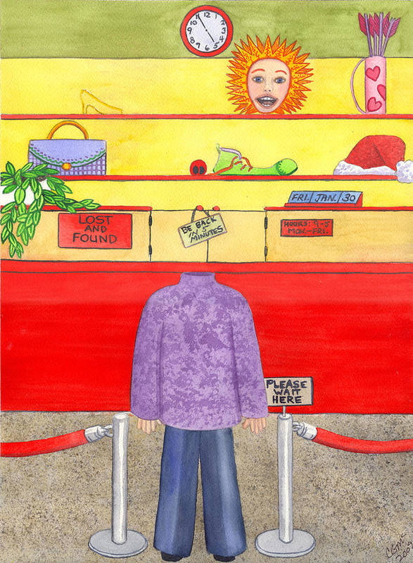 Humor Art Print featuring the painting Lose Something by Catherine G McElroy