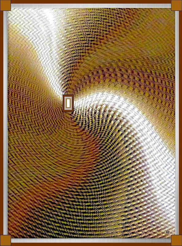 Abstract Print featuring the digital art Luminous Energy 16 by Will Borden