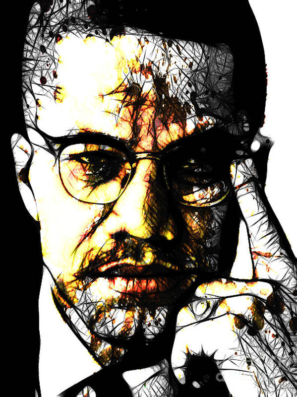 Malcolm X Art Print featuring the digital art Malcolm X by The DigArtisT