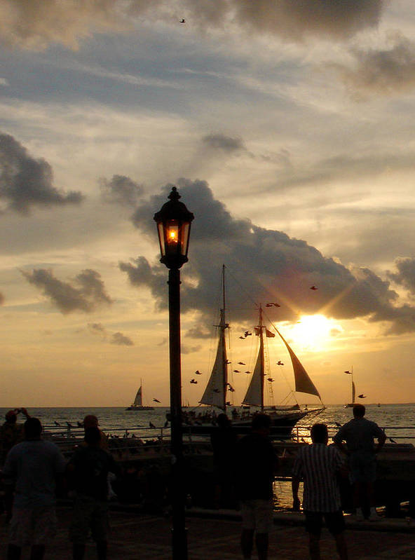 Photography Art Print featuring the photograph Mallory Square Key West by Susanne Van Hulst