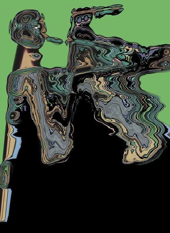 Abstract Art Print featuring the digital art Man Woman by LeeAnn Alexander