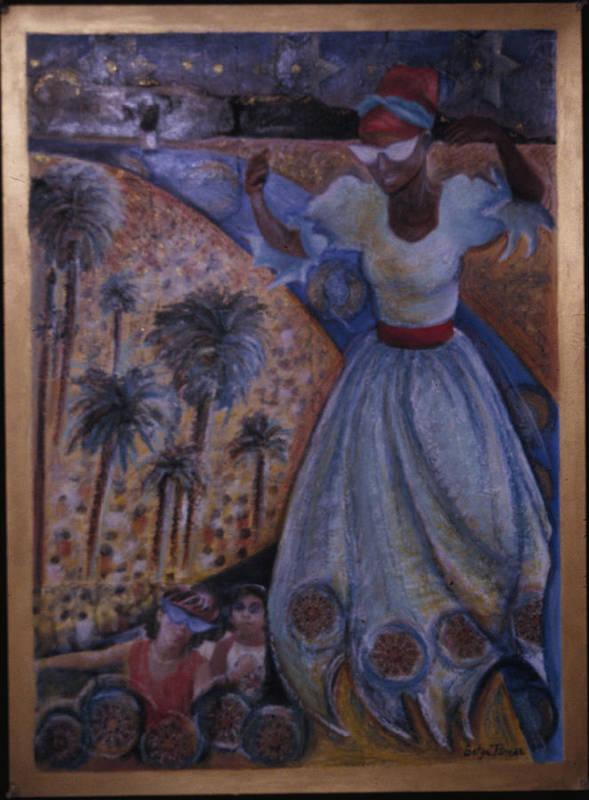 Haiti Print featuring the painting Mardi Gras Megillah by Barbara Nesin