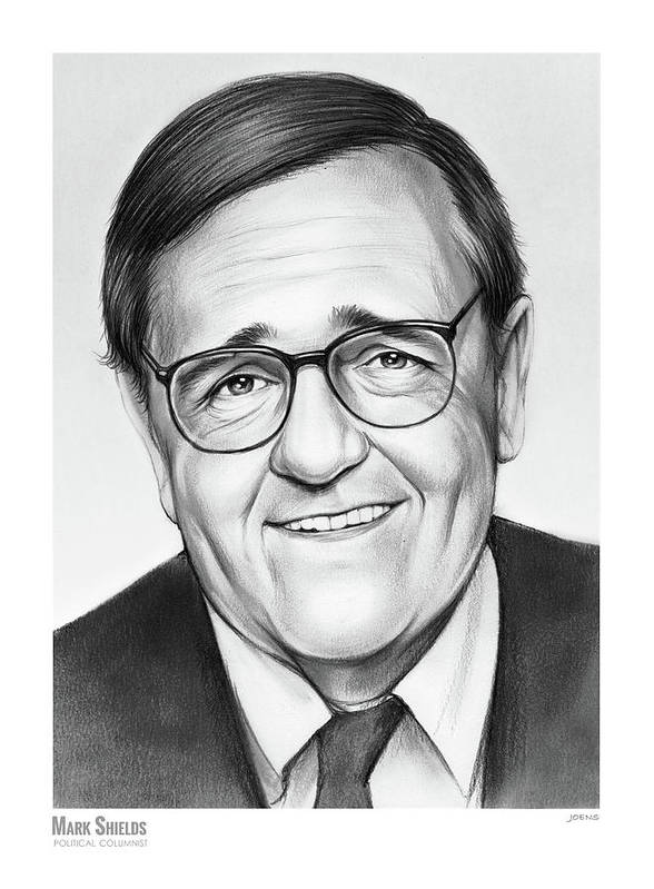 Mark Shields Art Print featuring the drawing Mark Shields by Greg Joens