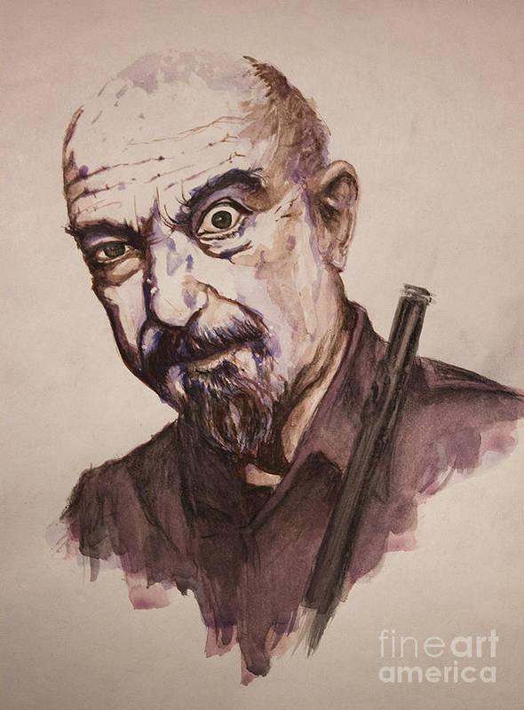Ian Anderson Art Print featuring the painting Master Of Flute by Maja Sajnkar