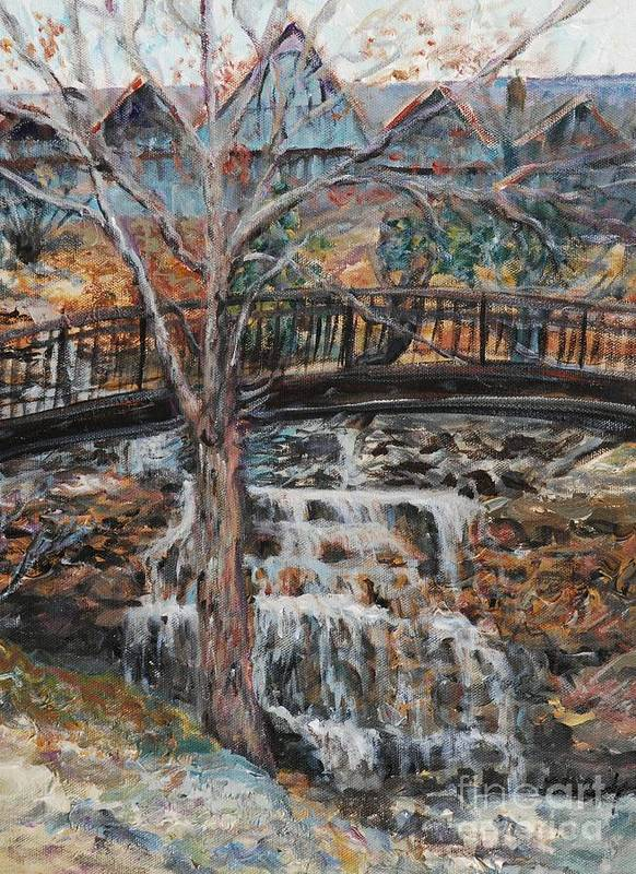 Waterfalls Art Print featuring the painting Memories by Nadine Rippelmeyer