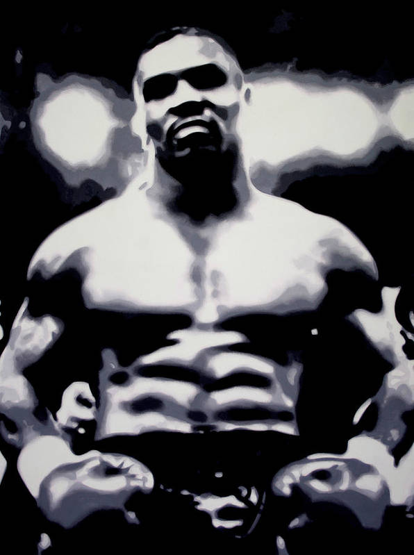 Michael Gerard mike Tyson Art Print featuring the painting Mike Tyson by Luis Ludzska