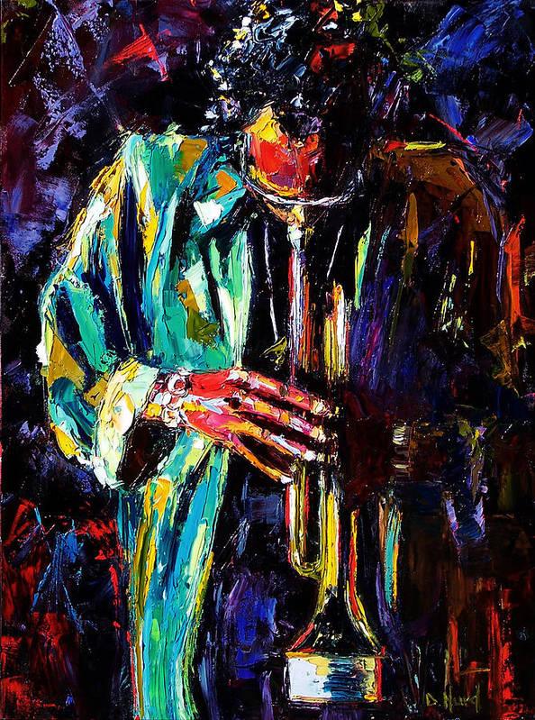 Miles Davis Art Print featuring the painting Miles by Debra Hurd