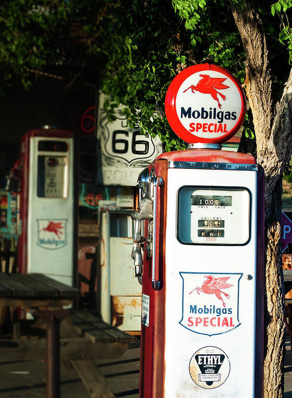 Mobilgas Art Print featuring the photograph Mobilgas Special by Michelle Rollins