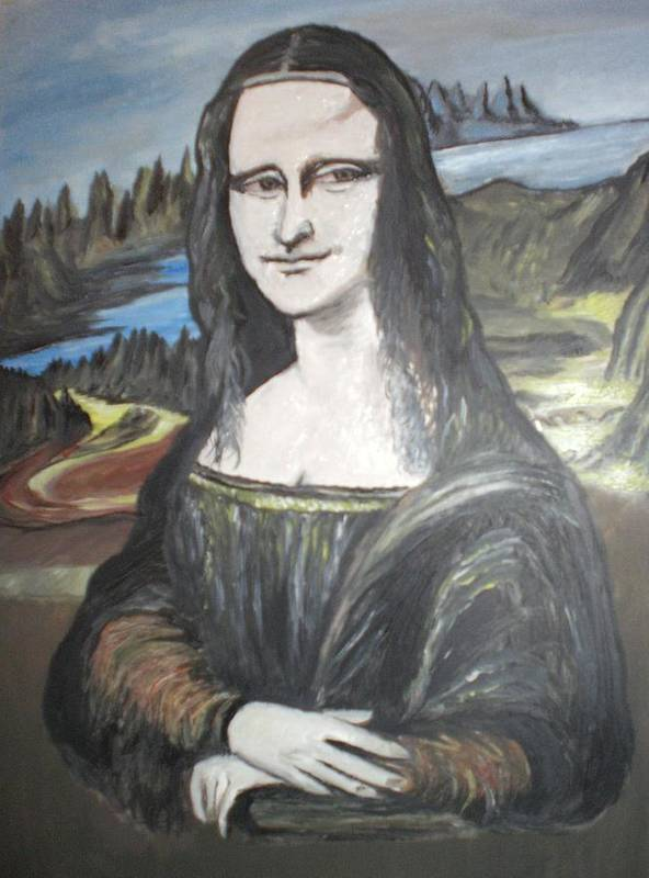 Mona Lisa Art Print featuring the painting Mona Lisa by Colin O neill