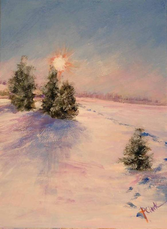 Sunrise Art Print featuring the painting Morning Frost by Donna Pierce-Clark
