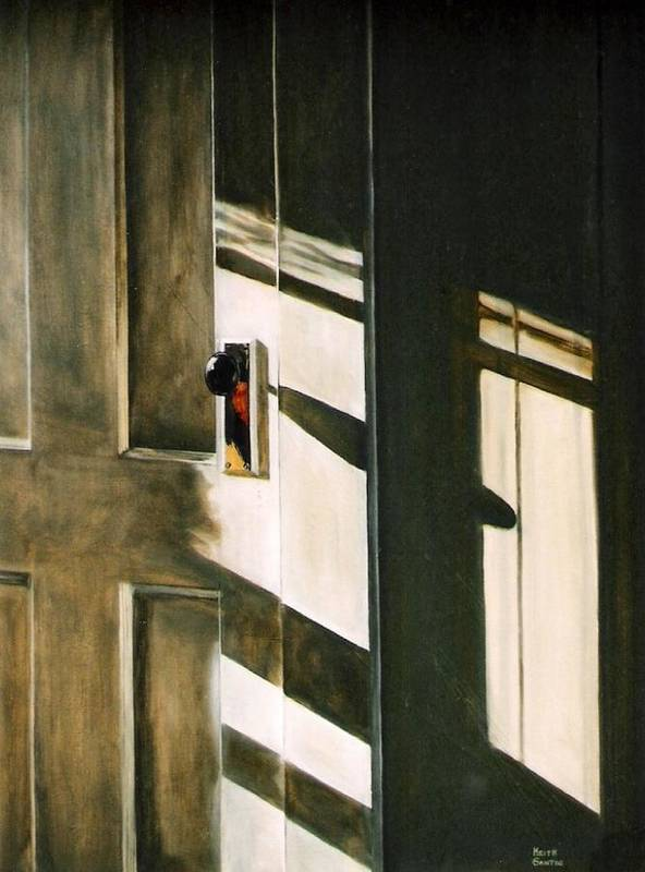 Door Art Print featuring the painting Morning Sun by Keith Gantos