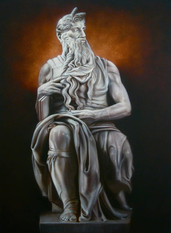 Portrait Art Print featuring the painting Moses by Grant Kosh