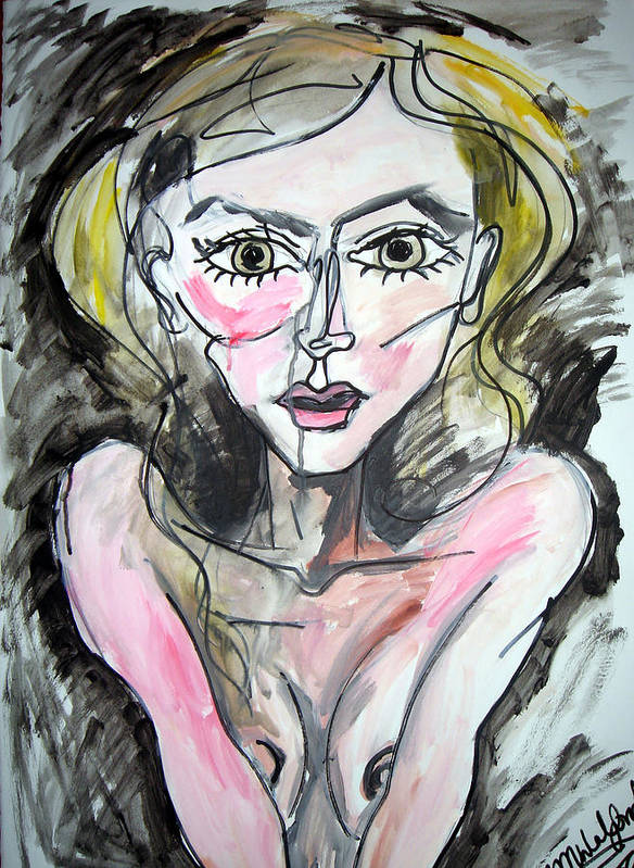 Woman Art Print featuring the painting My Last Stand by Jenni Walford
