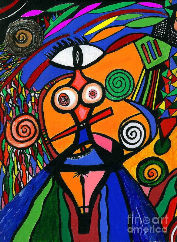 Feelings Art Print featuring the painting My Woman by Safak Tulga