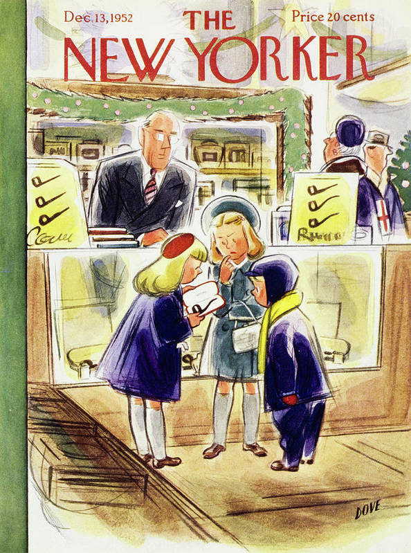 Children Art Print featuring the painting New Yorker December 13 1952 by Leonard Dove
